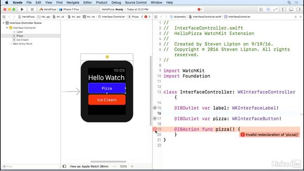 Connect objects to code: Learning Apple watchOS 3 App Development