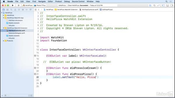 Write watchOS code: Learning Apple watchOS 3 App Development