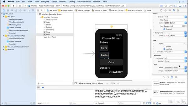 Size Watchkit objects: Learning Apple watchOS 3 App Development