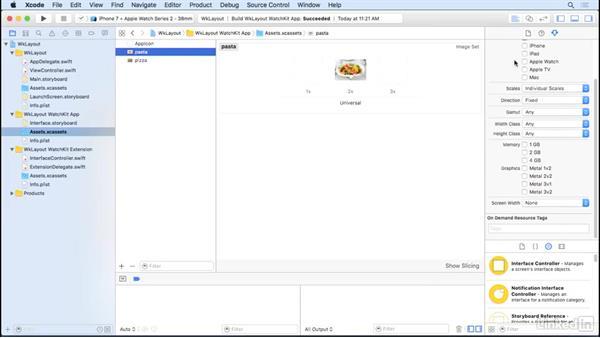 Add images: Learning Apple watchOS 3 App Development