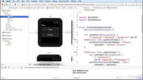 Work with modals: Learning Apple watchOS 3 App Development