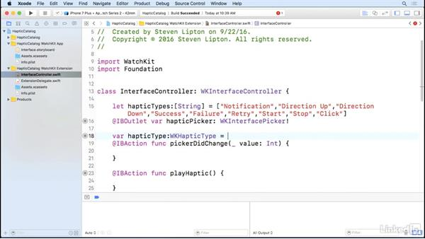 Haptics: Learning Apple watchOS 3 App Development