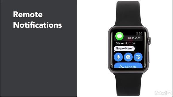 Types of notifications: Learning Apple watchOS 3 App Development