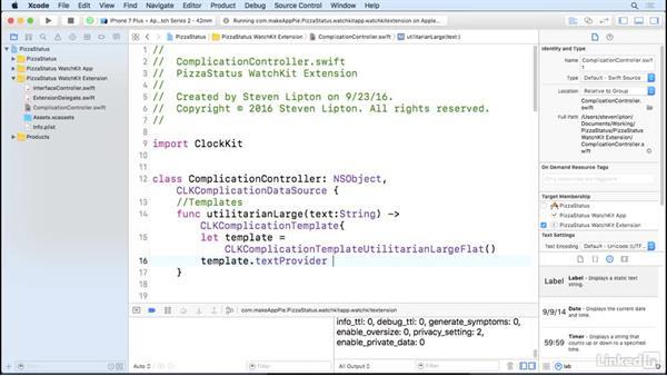 Complication templates: Learning Apple watchOS 3 App Development