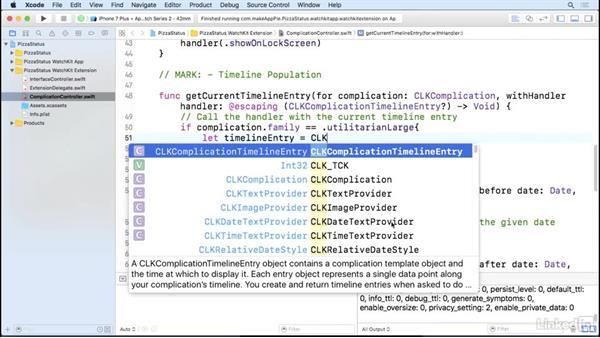 Complication timelines: Learning Apple watchOS 3 App Development