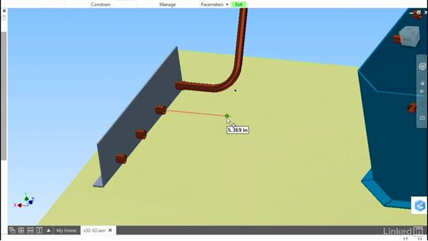 Buidling a route: Autodesk Inventor Routed Systems: Tubing