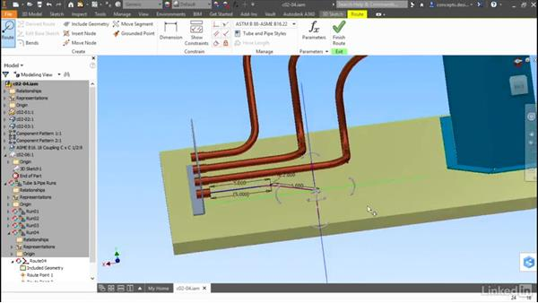 Combining methods: Autodesk Inventor Routed Systems: Tubing
