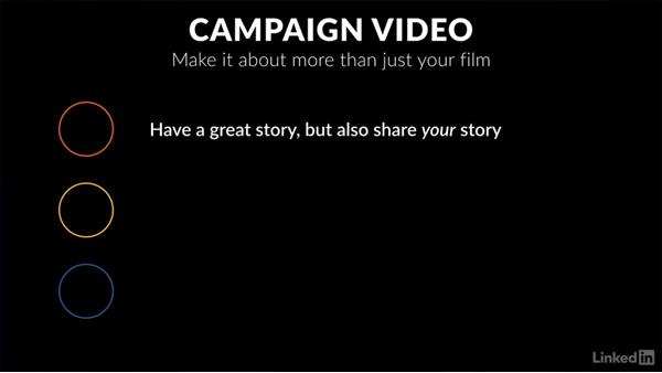 The importance of your pitch video: Crowdfunding Campaigns for Independent Film