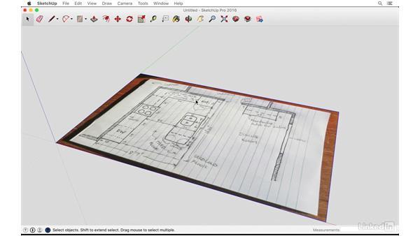 Importing a 2D sketch: SketchUp: Kitchen Design