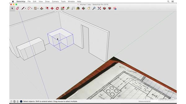 Modeling the existing kitchen: SketchUp: Kitchen Design