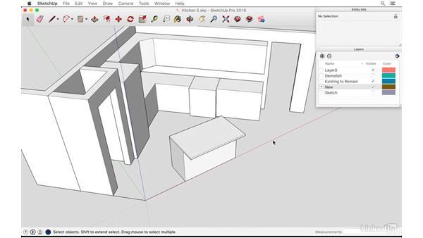 Designing an island at an angle: SketchUp: Kitchen Design