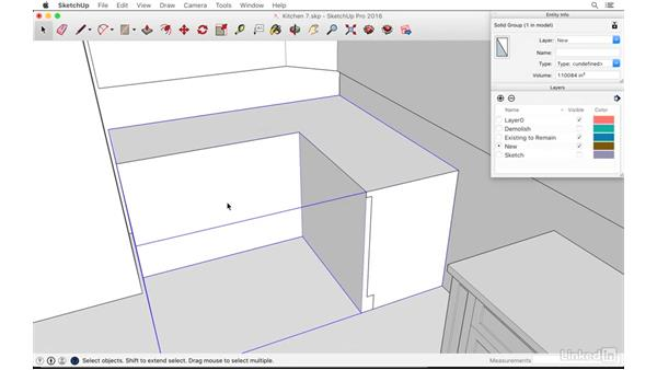 Detailing with the Section tool: SketchUp: Kitchen Design