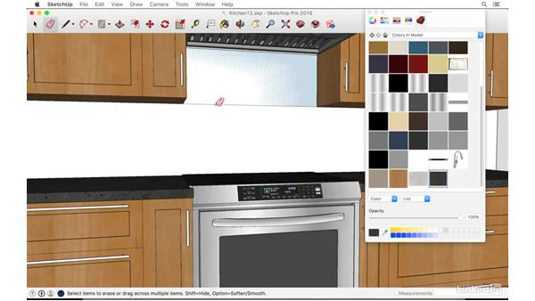 Assigning materials: SketchUp: Kitchen Design