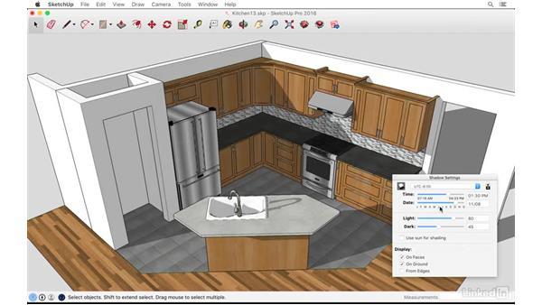 Casting shadows: SketchUp: Kitchen Design