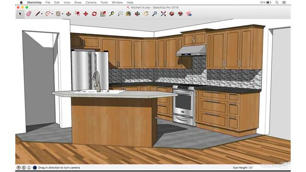 Animating a camera to visualize the kitchen: SketchUp: Kitchen Design