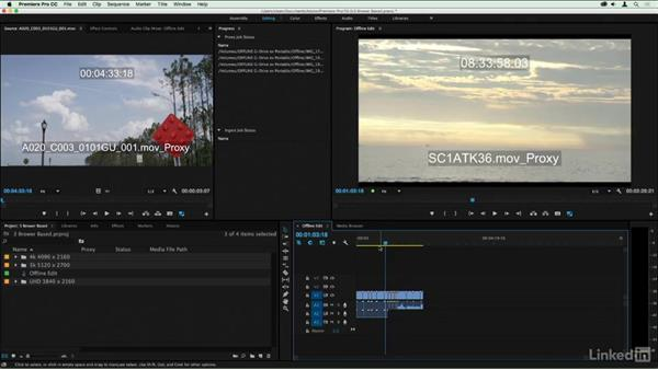 Attaching full-resolution clips to a proxy-only system: Premiere Pro Guru: Online Offline Workflows
