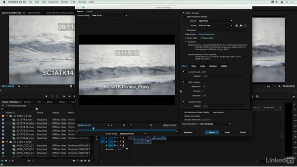 Outputting a low-quality proxy: Premiere Pro Guru: Online Offline Workflows