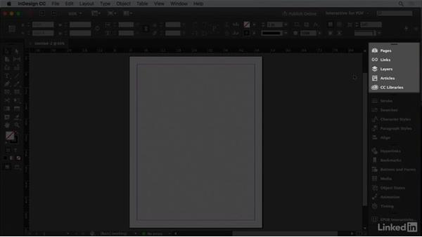 Customize the workspace: InDesign CC: Interactive Document Fundamentals