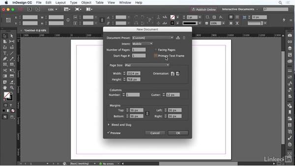 Create document presets: InDesign CC: Interactive Document Fundamentals