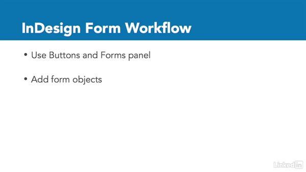 PDF forms: InDesign CC: Interactive Document Fundamentals