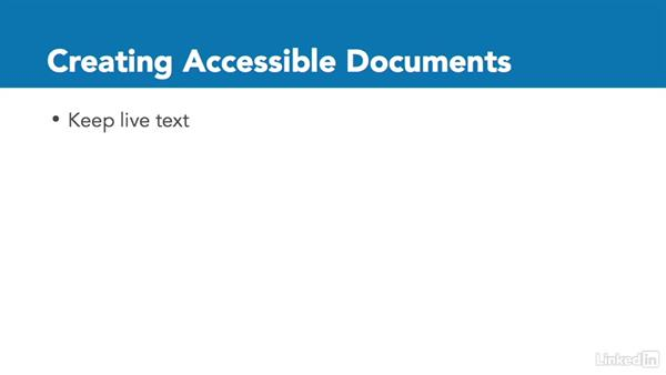 Accessible PDFs: InDesign CC: Interactive Document Fundamentals
