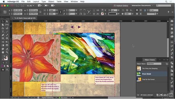 Understanding multi-state objects: InDesign CC: Interactive Document Fundamentals