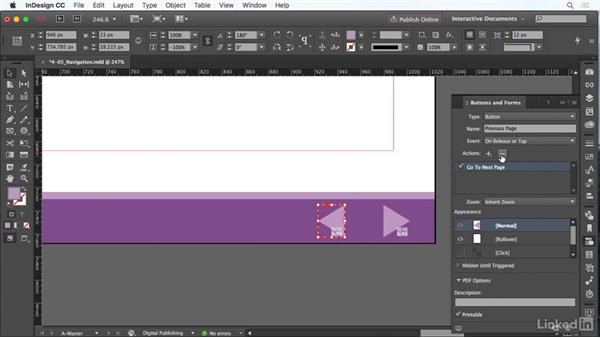 Use navigation buttons: InDesign CC: Interactive Document Fundamentals