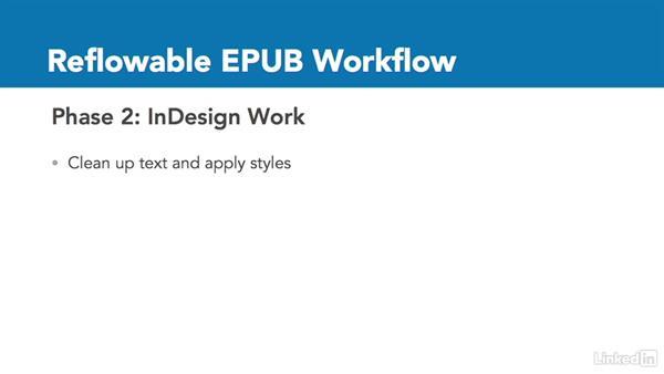 Reflowable EPUB workflow: InDesign CC: Interactive Document Fundamentals
