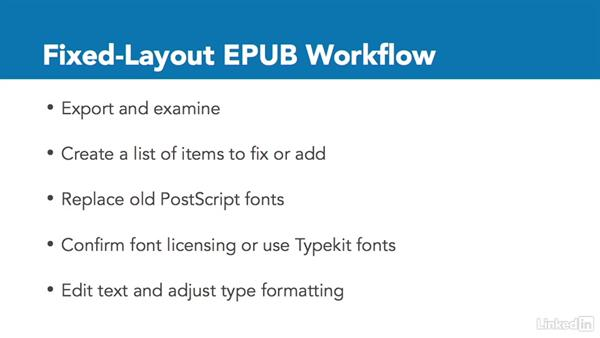 Fixed-layout EPUB workflow: InDesign CC: Interactive Document Fundamentals