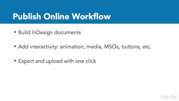 Publish Online workflow: InDesign CC: Interactive Document Fundamentals