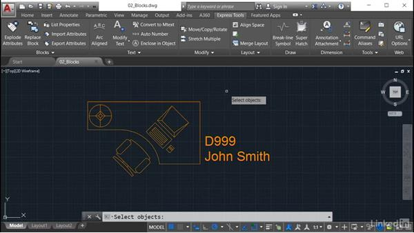 Explode Attributes: AutoCAD: Express Tools Workflow