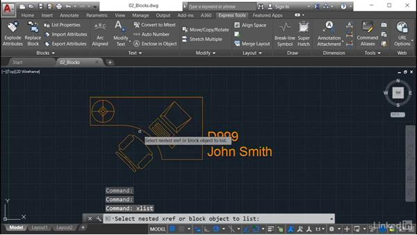List Properties: AutoCAD: Express Tools Workflow