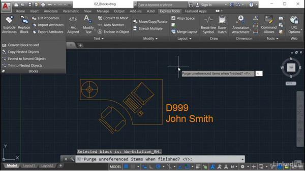 Convert Block to XREF: AutoCAD: Express Tools Workflow
