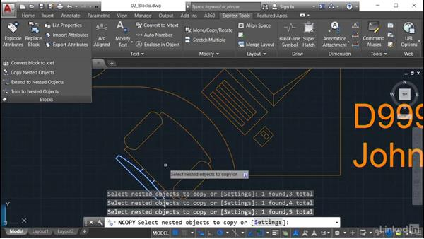 Copy Nested Objects: AutoCAD: Express Tools Workflow