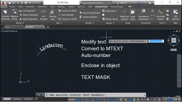 Modify Text: AutoCAD: Express Tools Workflow