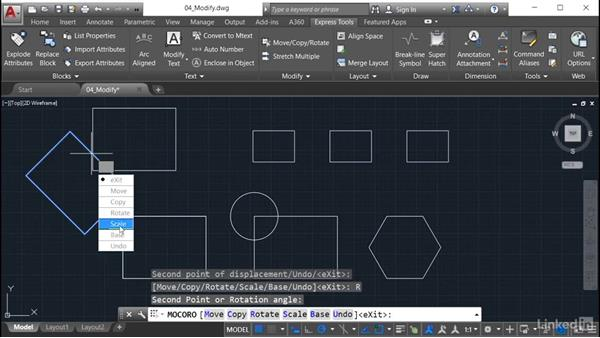 Move/Copy/Rotate: AutoCAD: Express Tools Workflow