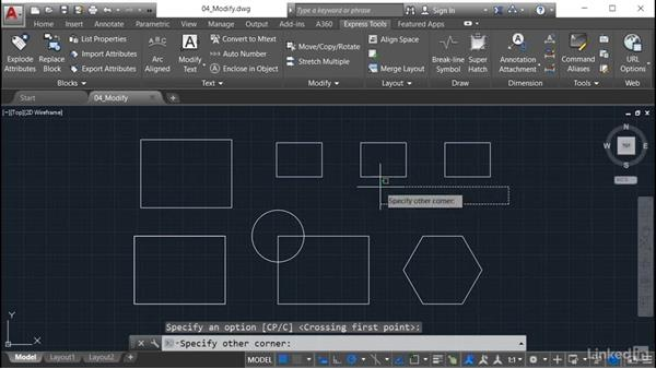 Stretch Multiple: AutoCAD: Express Tools Workflow