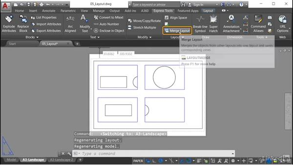 Merge Layout: AutoCAD: Express Tools Workflow