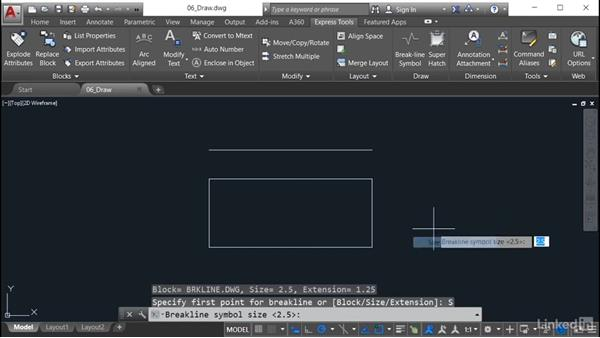 how to make a break line in autocad
