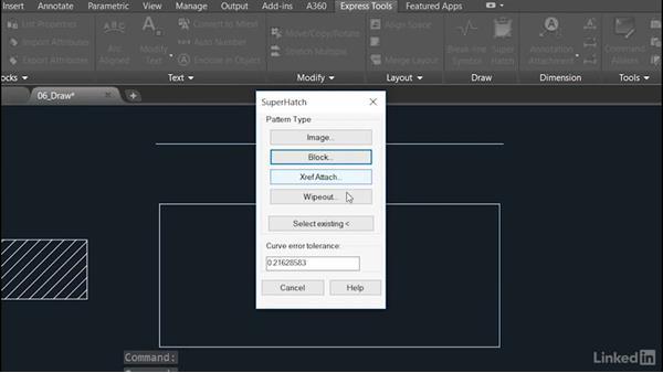 Super Hatch: AutoCAD: Express Tools Workflow