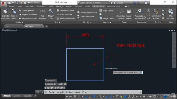 List Object Xdata: AutoCAD: Express Tools Workflow