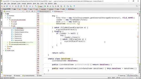 Import JSON data files