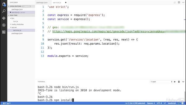Implement geocoding: Building a Slack Bot with Node.js Microservices