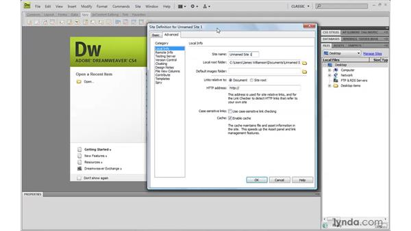 Using the exercise files: Dreamweaver CS4 with CSS Essential Training