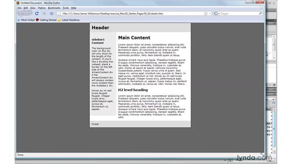 Defining fixed, elastic, liquid, and hybrid: Dreamweaver CS4 with CSS Essential Training