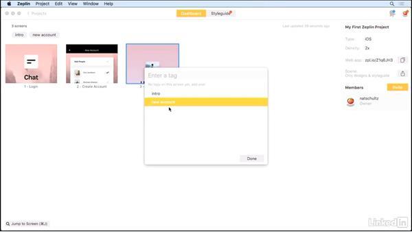 Navigating the interface: UX Design Tools: Zeplin