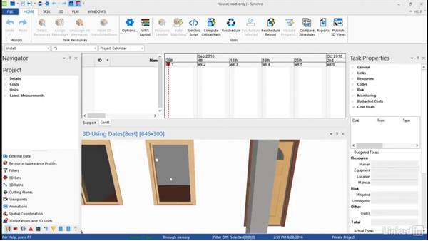 3D window navigation: Synchro Essential Training