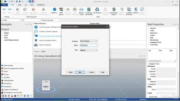 Importing 3D files: Synchro Essential Training