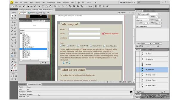 Using common libraries to create site prototypes: Dreamweaver CS4 with CSS Essential Training
