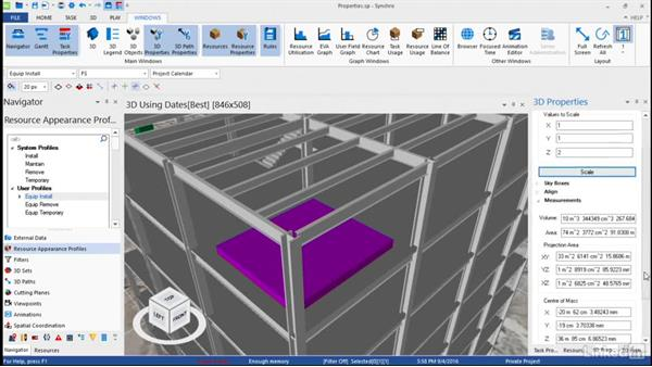 Adjusting 3D object properties: Synchro Essential Training